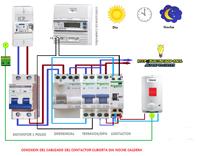 conexion del cableado del contactor cubierta dia noche caldera