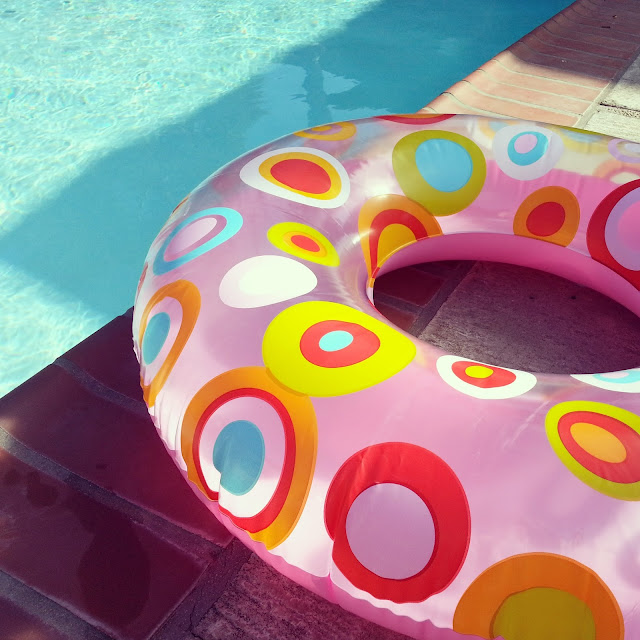 April Sprinkles Polka Dot Floatie