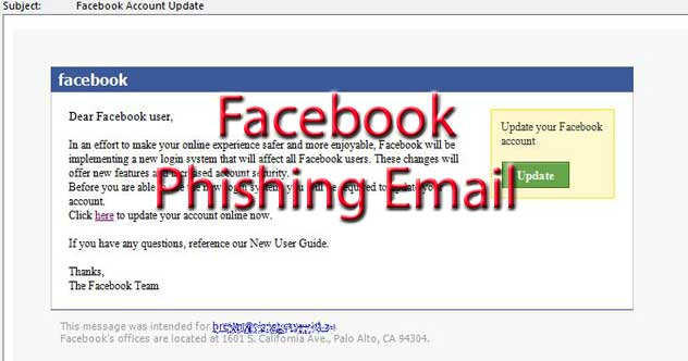 page latest email scams