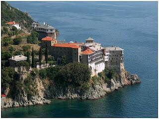 Atos. Manastir Svetog Grigorija.