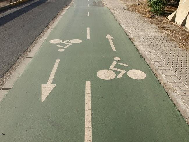 Tipos de carril bici en Las Tablas, Madrid y cómo utilizarlos