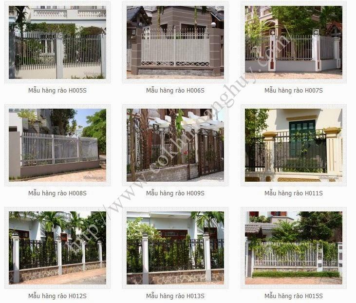 Hàng rào sắt thi công hàng rào