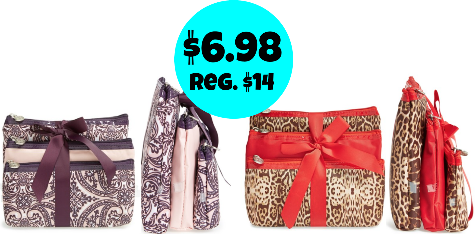 Nordstrom .com: Sets of 3 Tri-Coastal Design Cosmetic Bags = $6.98 + FREE Shipping! Regularly $14