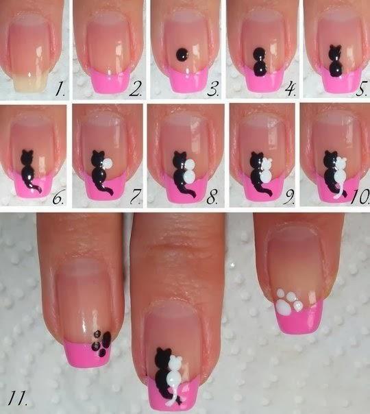 дизайн гелевых ногтей с пошаговым фото