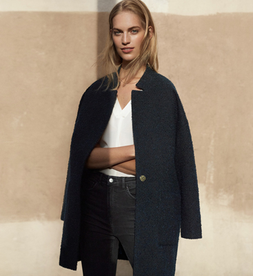 abrigo cocoon H&M mujer