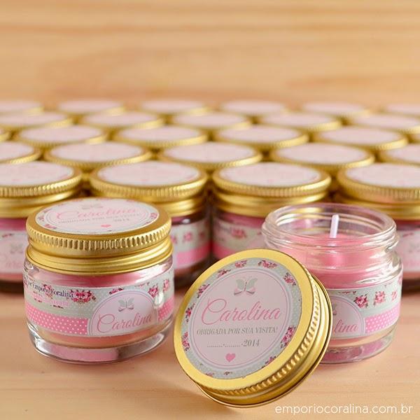 Emp rio coralina lembrancinha de maternidade mini velas perfumadas - Velas perfumadas ...