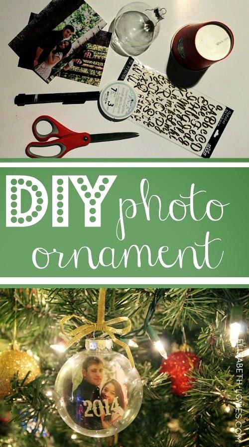 DIY Photo Christmas Ornament