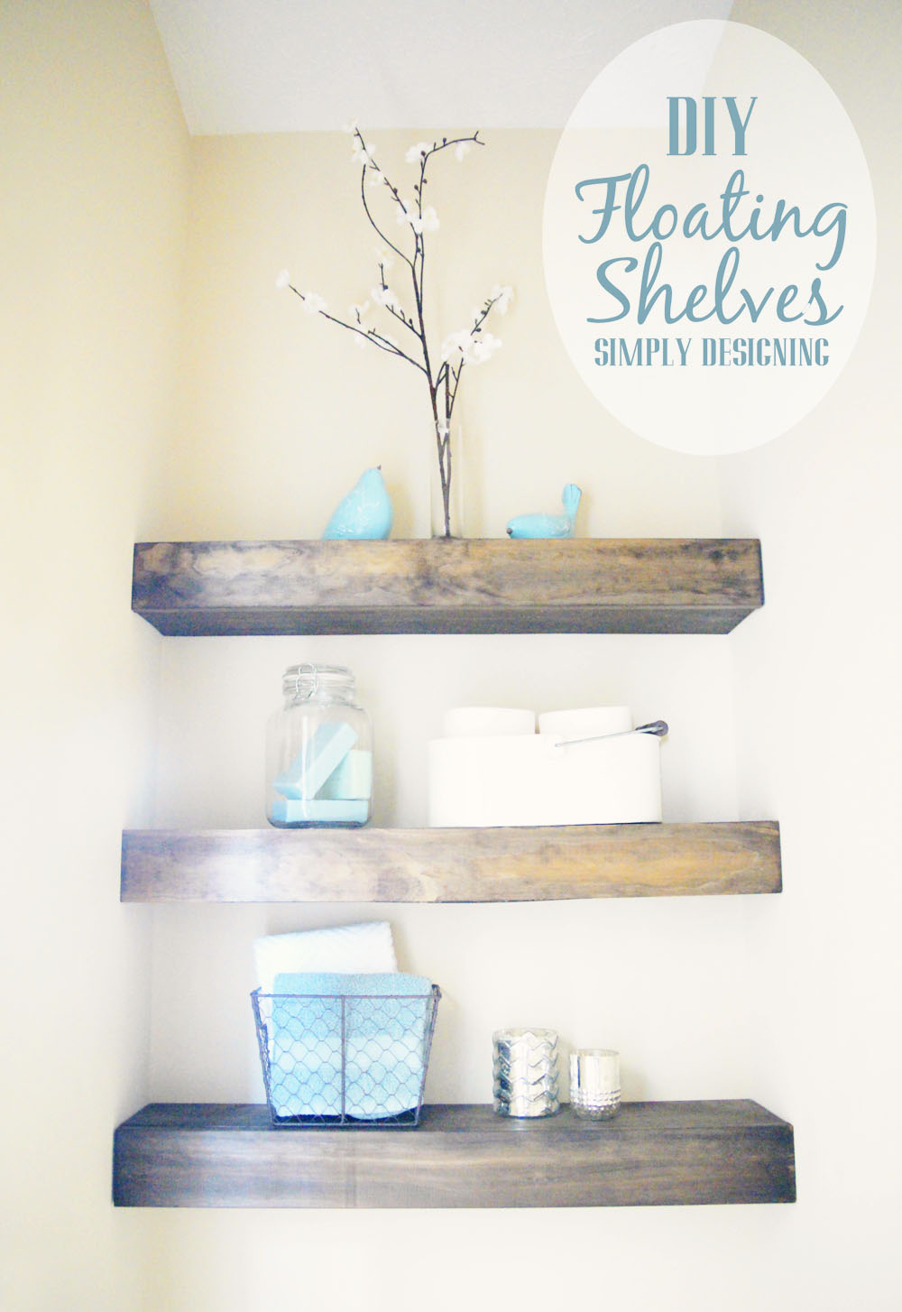 Elegant DIY Floating Shelves