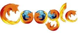 Дудл стилизированный под Firefox