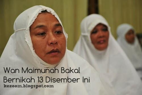 Wan Maimunah Bakal Bernikah 13 Disember Ini