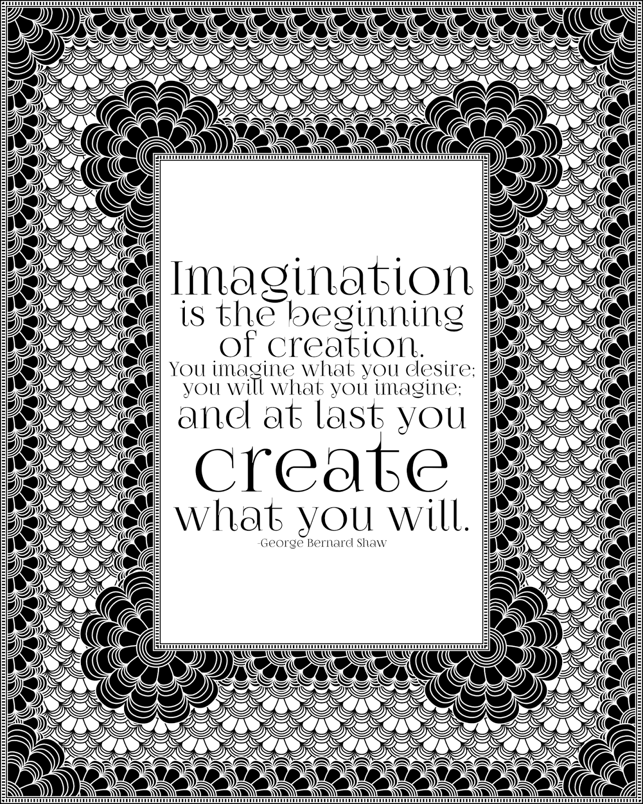 Imagination is the beginning of creation. -George Bernard Shaw printable quote
