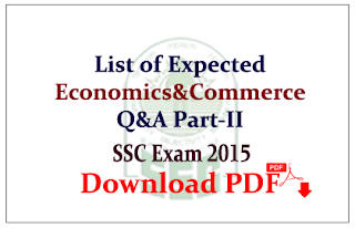 List of Expected GK Questions from Economics and commerce Capsule Download