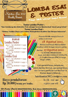 essay dan poster nutrition fair 2012