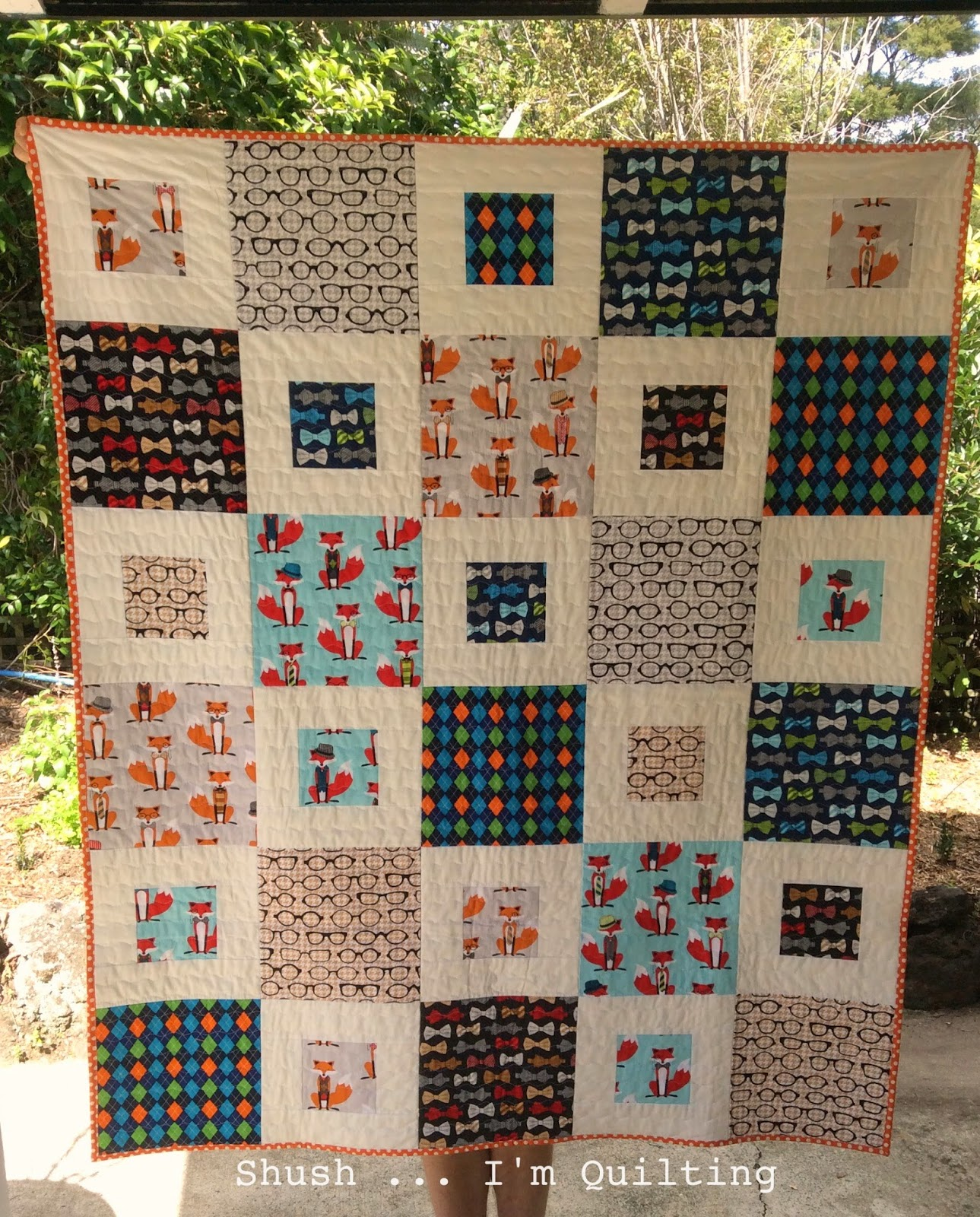 Easy Quilt With Three Fabrics : Shush I m Quilting: Super simple baby quilt three - finished