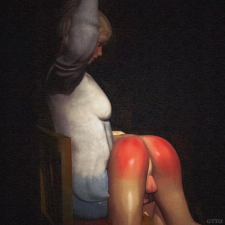 La fesse spank