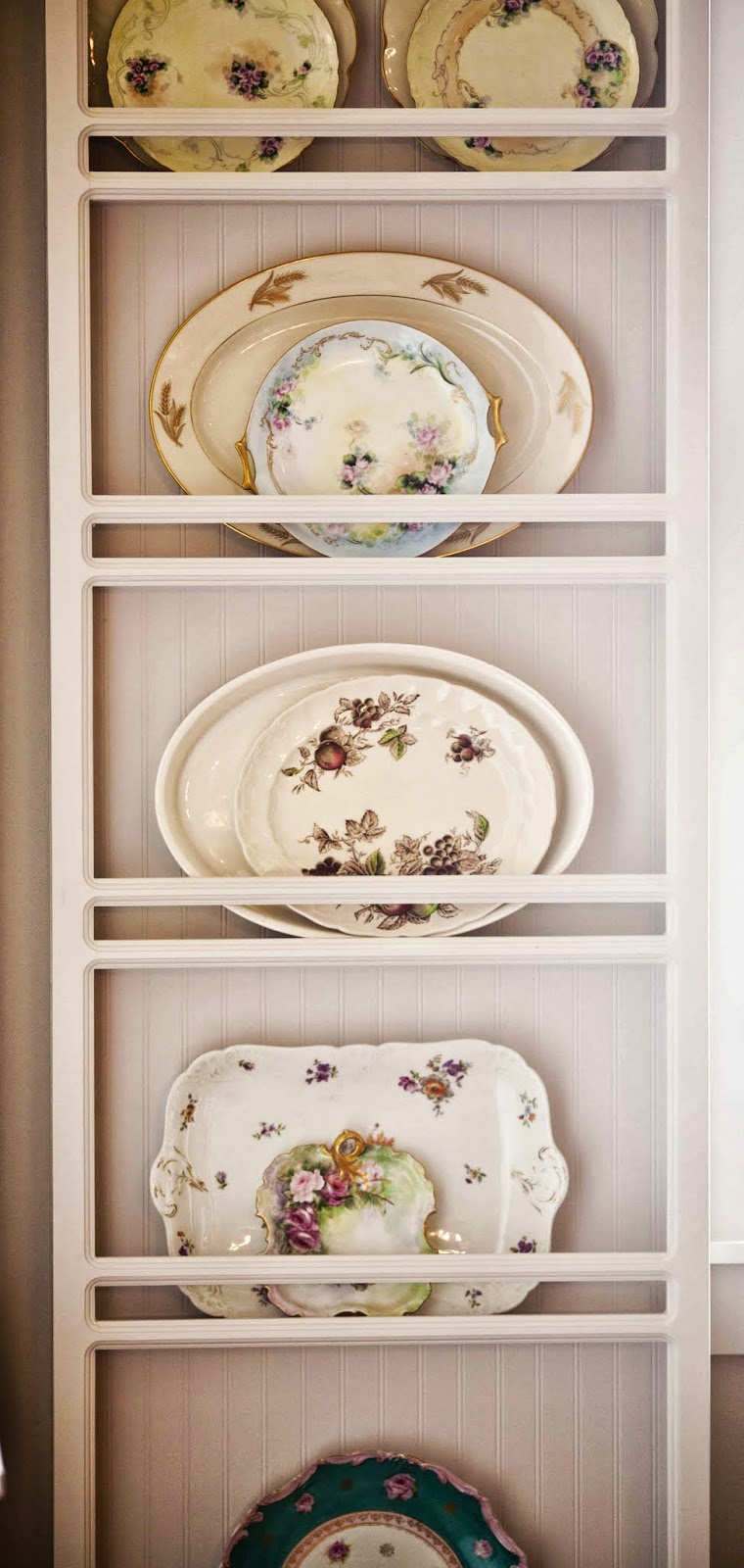 I love these built-in plate racks. They are perfect for a dish nut like me. & Cedar Hill Ranch Kitchen Tour and Confessions - Cedar Hill Farmhouse