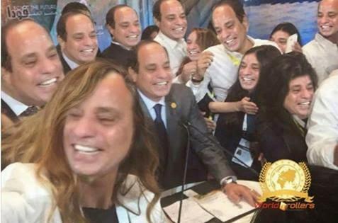 بالصور السخرية من صورة سيلفي السيسي نحن نحمل السهوكة لمصر
