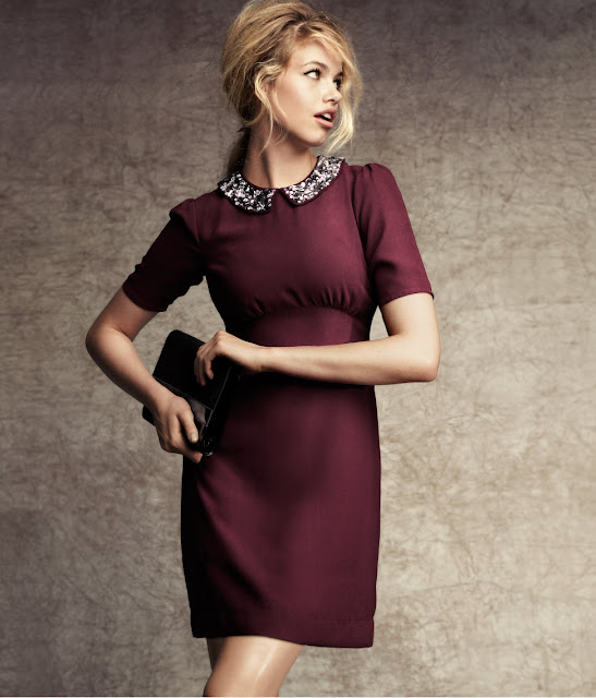 HM red wine dress
