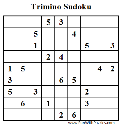 Trimino Sudoku (Daily Sudoku League #43)