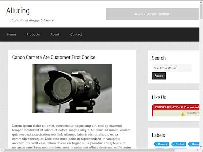 Alluring Free Premium Blogger Template