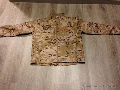 Spanish Army Desert Digital Camo Softshell Jacket b