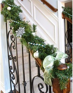 A mi manera for Adornos navidenos para escaleras