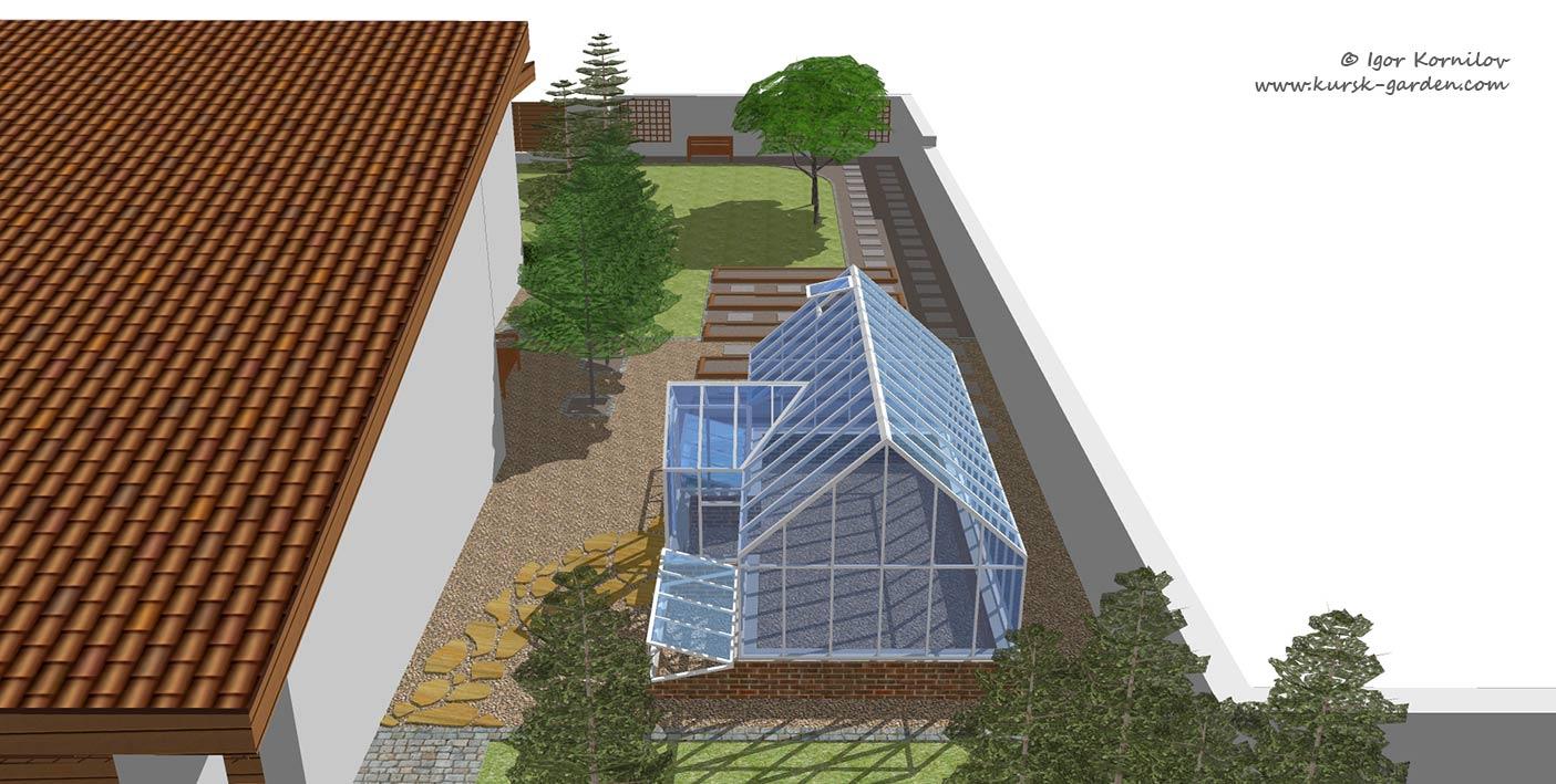 Проект сада, зона огорода