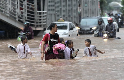 Photos: Flooding in Jakarta, Indonesia