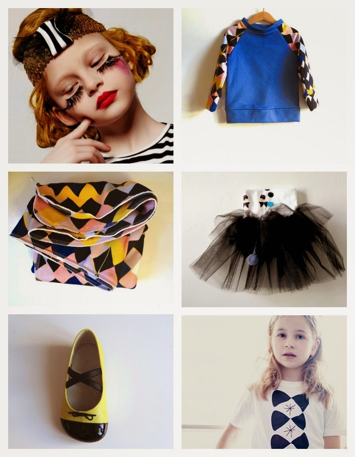 Ballerina shoes and tutus by EFVVA for spring 2014 kids fashion collection