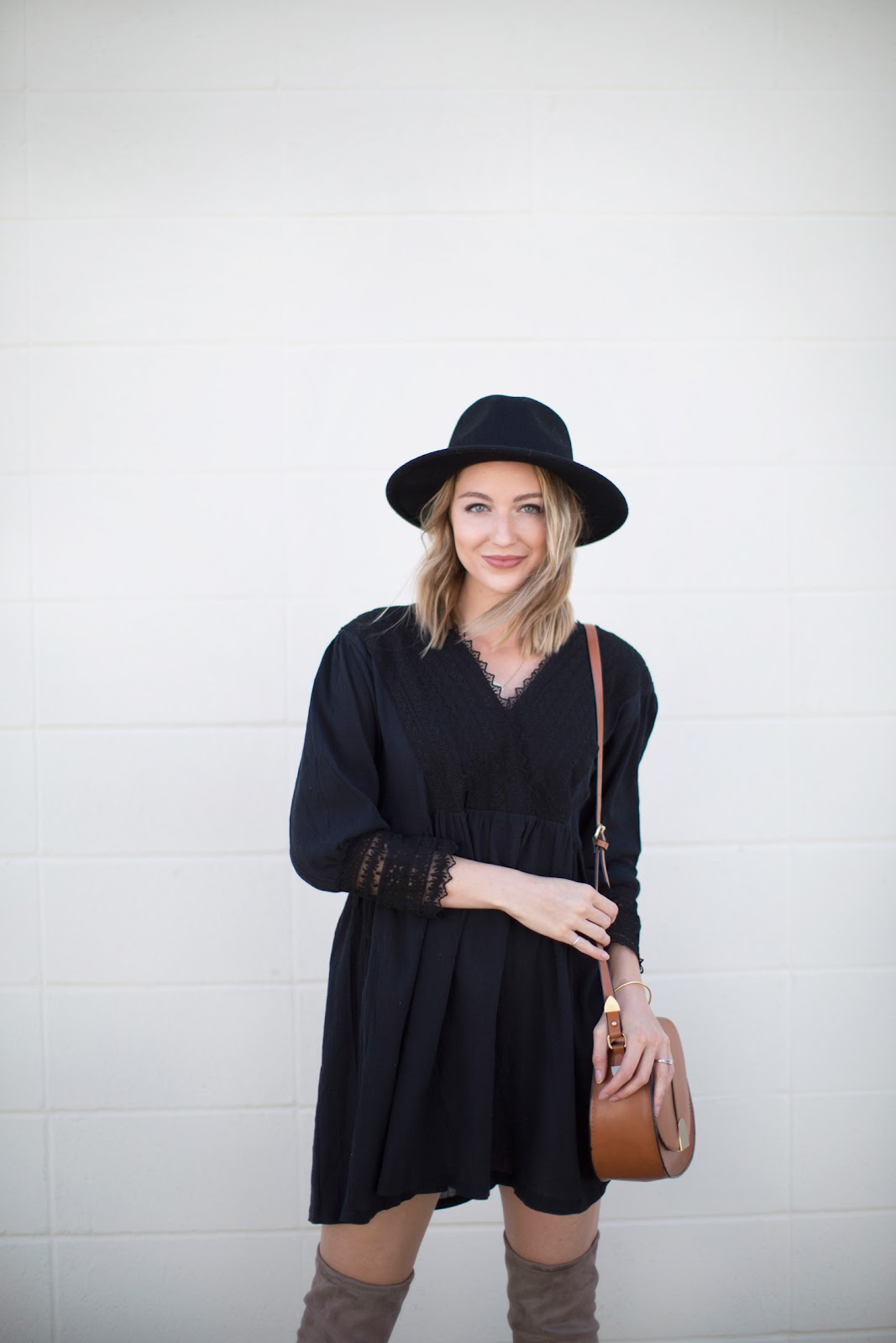 Little black fall dress