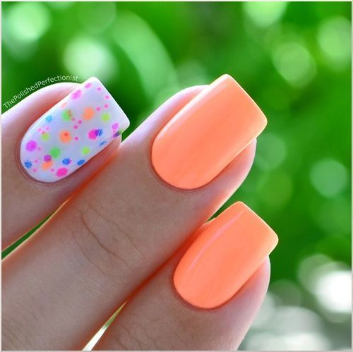 Cute Summer Flower Nails