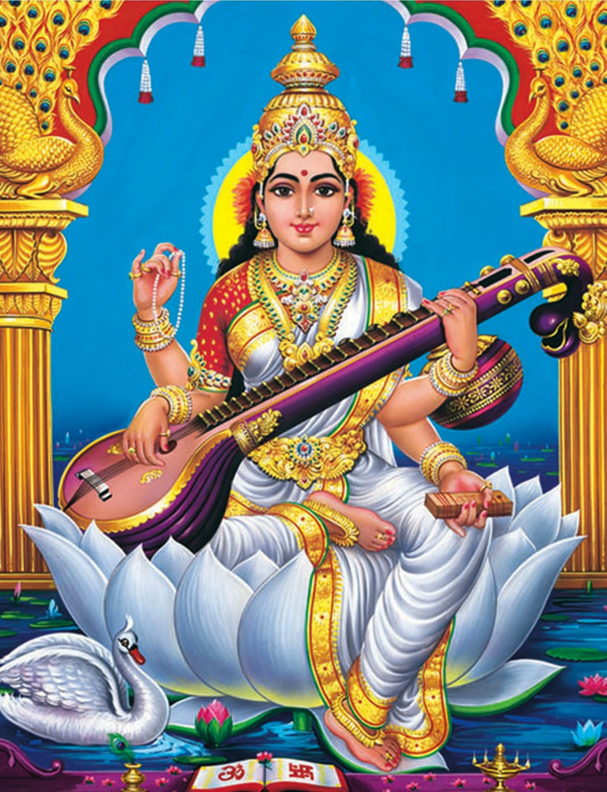 saraswati: hindu goddess essay A deity with as many attributes as arms, saraswati (or sarasvati) is the hindu goddess of aesthetics these include music, the arts, wisdom and learning.