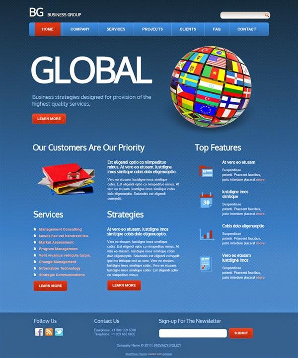 BG Business Group - Free Wordpress Theme