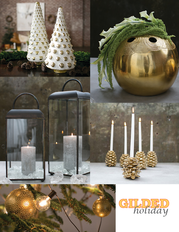 Gilded Holiday Trend from Accent Decor