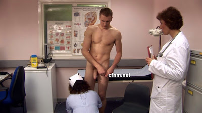 doctors examination on naked patients