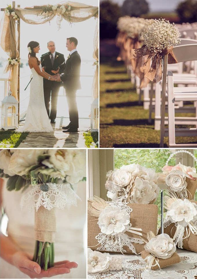 Wedding Decoration Designs : Burlap wedding decorations and ideas