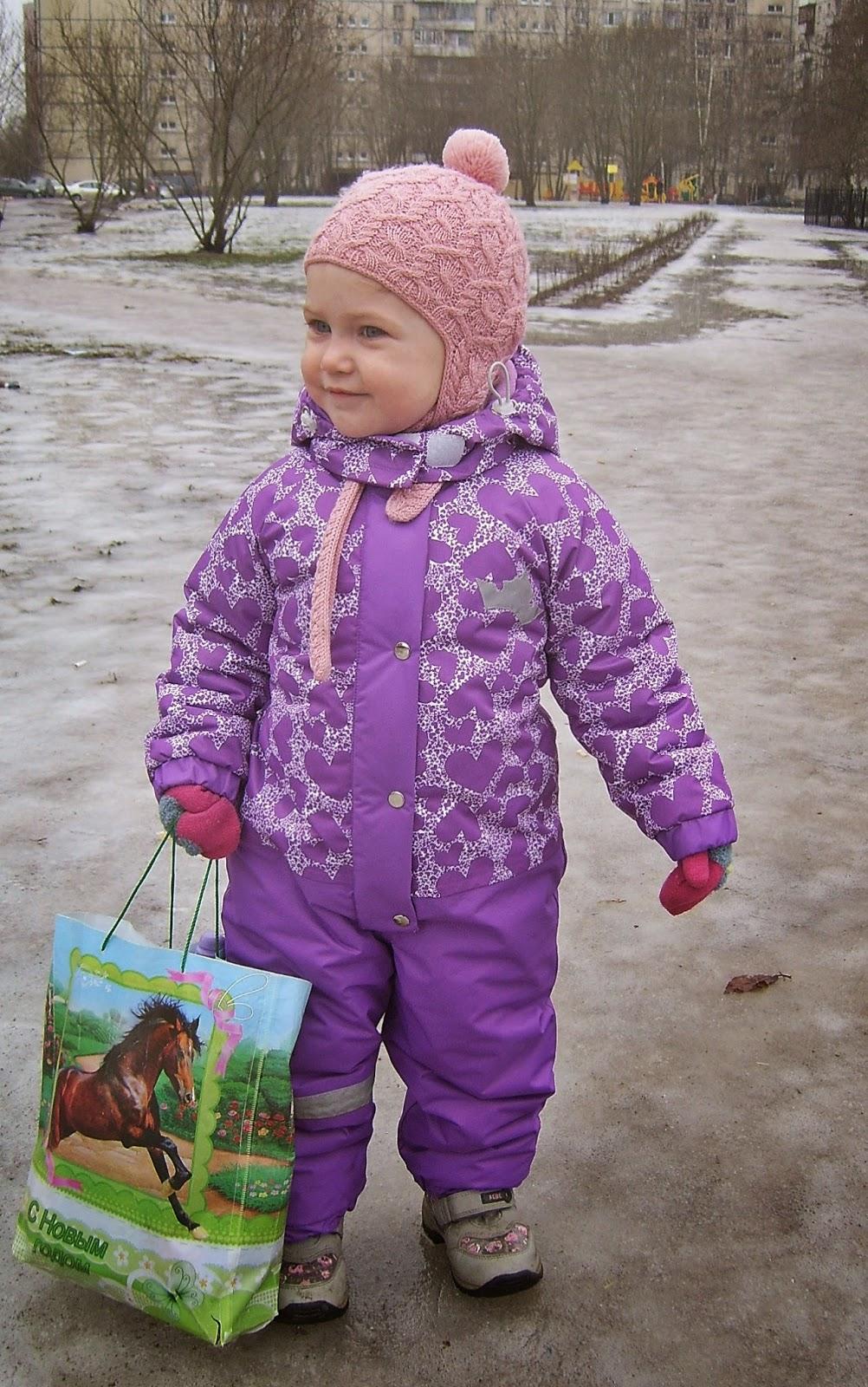 мебранный зимний комбинезон для девочки