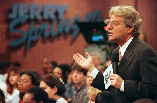 jerry springers effect on pop culture Jerry springer invented the present  the jerry springer show achieved the same effect every episode may as well have started with a woman frozen in mid-punch .