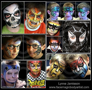 Boys face painting designs from spiderman to Ben 10