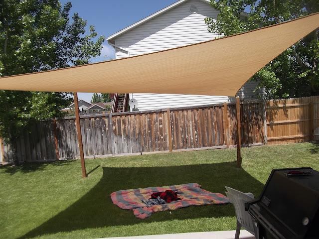 Kimballing sun shade for Sun shade structures