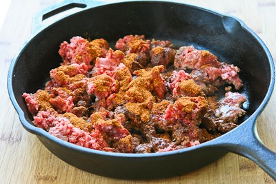 ... pan, add ground beef and about 2 T Kalyn's Taco Seasoning Mix