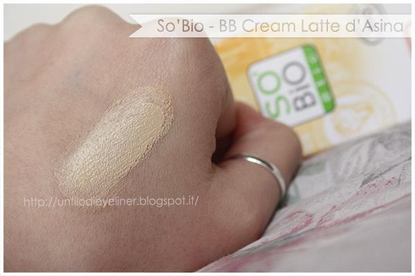 Swatch: So'Bio Etic BB Cream Latte d'Asina