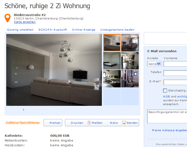 informationen ber wohnungsbetrug informations about rental scam seite 403. Black Bedroom Furniture Sets. Home Design Ideas