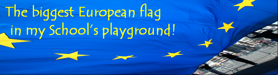 The biggest European flag in my School's playground