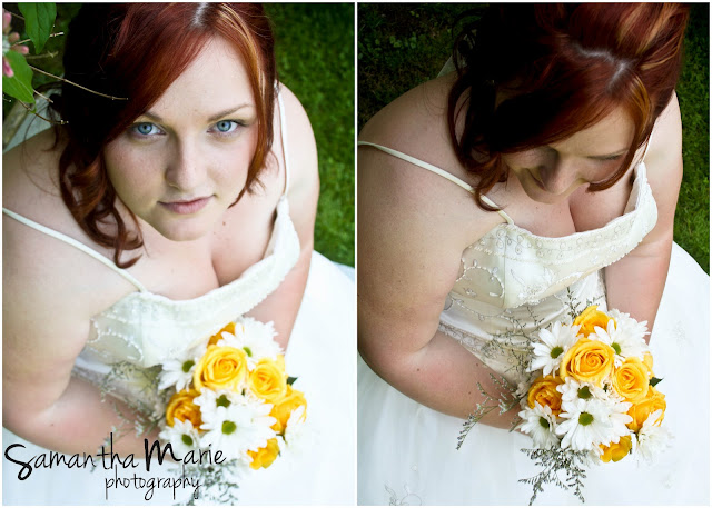 beautiful redheaded bride