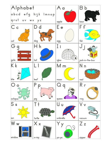 Number Names Worksheets preschool color chart : Tearless Teaching: PreK-K Emerging Readers/Writers Workshop