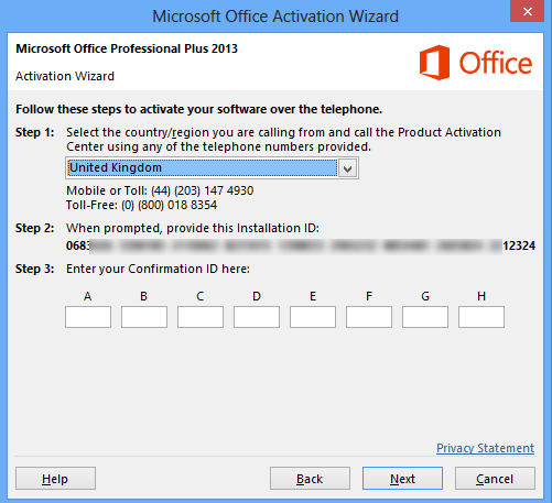 microsoft office professional plus 2013 volume license activation mak key