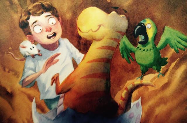 """Imagem da capa do livro """"O Dinossauro Que Fazia Au-Au"""", de Pedro Bandeira, lançado pela editora Moderna."""