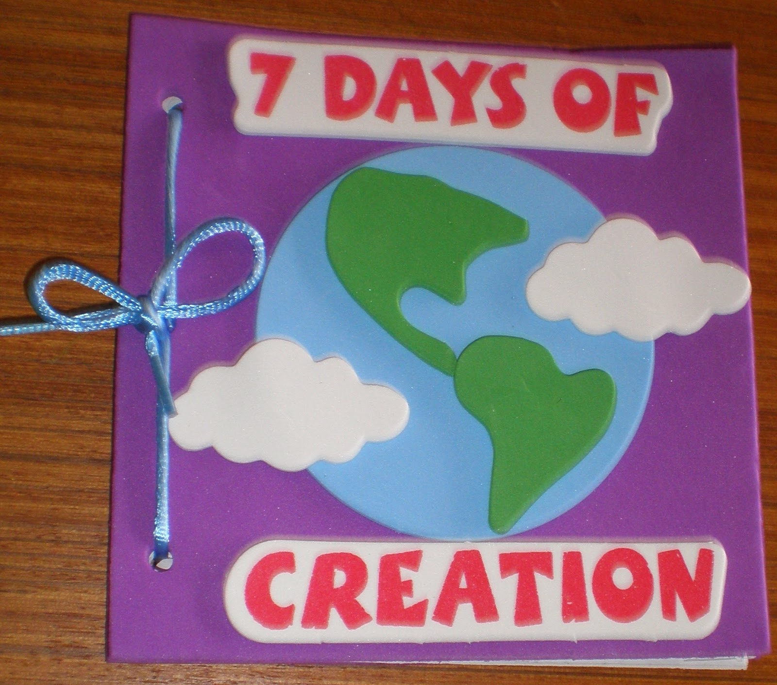 Petersham bible book tract depot 7 days of creation for Craft kits for preschoolers