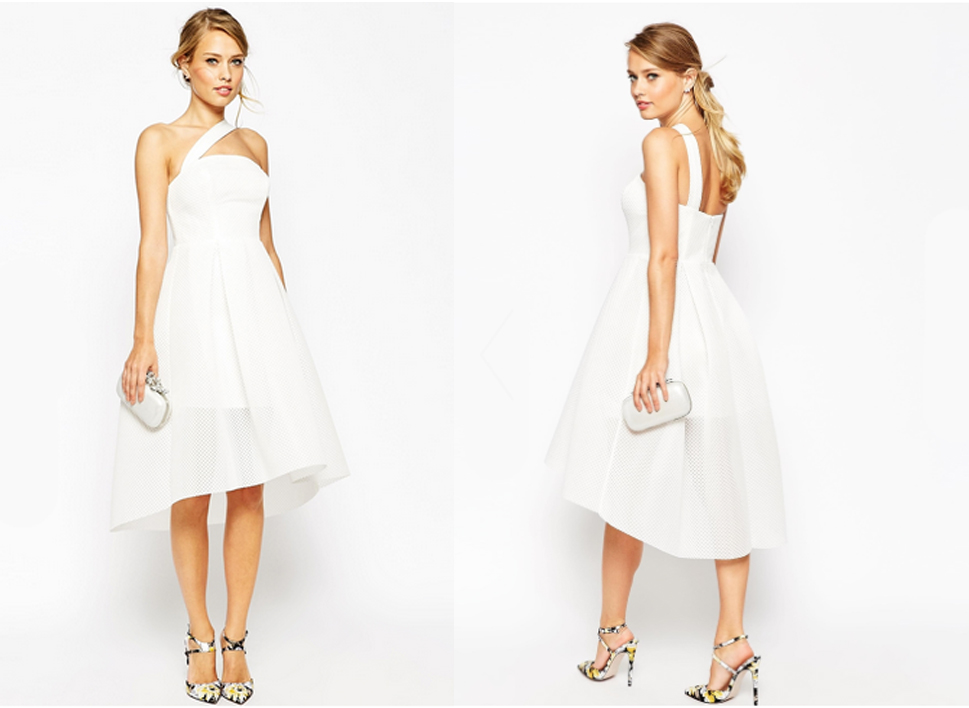 White ASOS Salon Dress